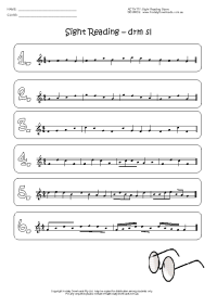 sight reading stave