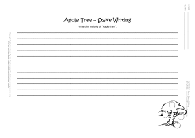 song stave writing