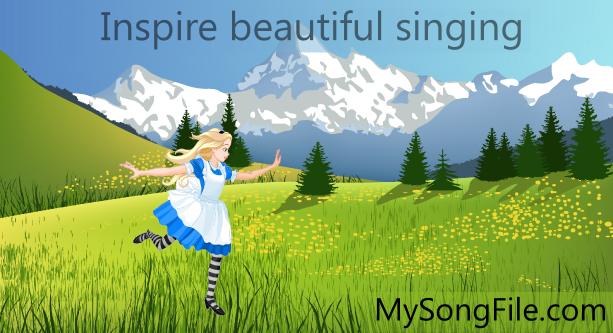 Inspire beautiful singing with MySongFile.com