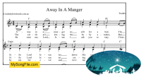 Away In A Manger - F Major with parts