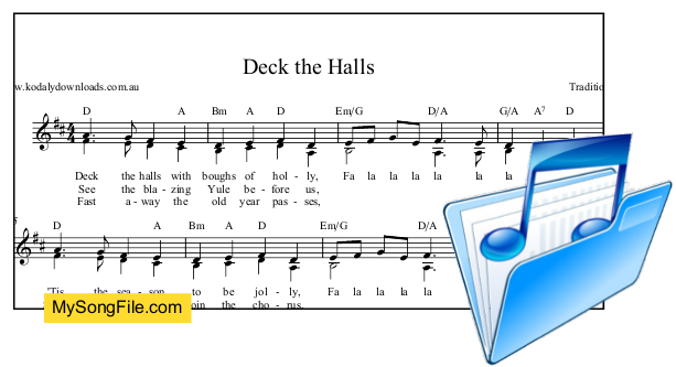 Deck the Halls in 2 parts - D Major