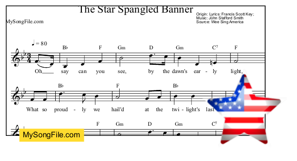 an analysis of the american national anthem the star spangled banner Today we sing the star-spangled banner as the national anthem of the united states but it wasn't originally a song learn its unique history and.