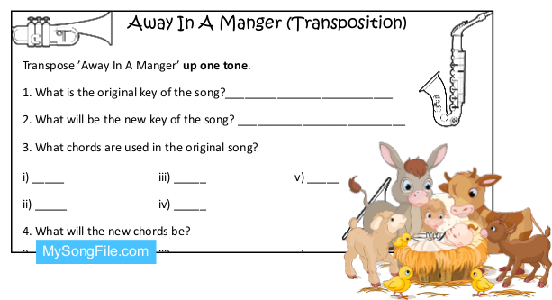 Away In A Manger (Transposition)