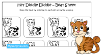 Hey Diddle Diddle (Beat Sheet Black and White)