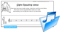Halloween (Sight Reading Stave - dms)