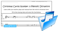 Christmas Carols Number 3 (Melodic Dictation)