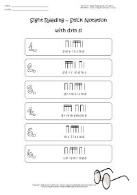 sight reading stick notation