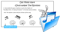 Old Molly Hare (Unscramble the Rhythm)