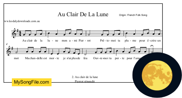 au clair de la lune mp3 free download