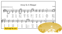 Away In A Manger - G Major with parts