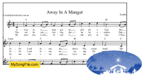 Away In A Manger - F Major