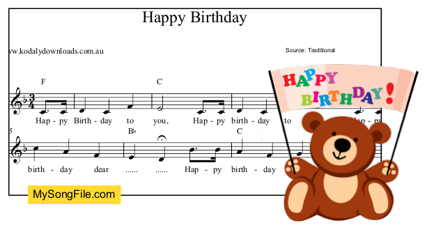 Happy Birthday - F Major