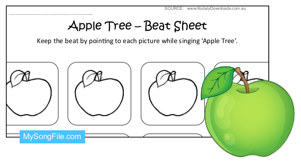 Apple Tree (Beat Sheet Black and White)