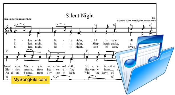 Silent Night - C Major with parts