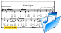 Silent Night - A Major with parts