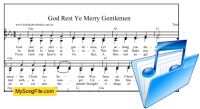God Rest Ye Merry Gentlemen - C minor with part