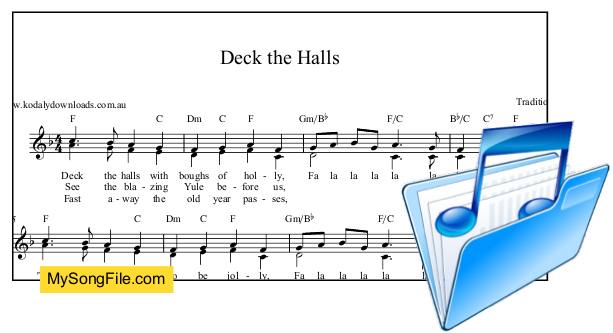 Deck the Halls in 2 parts - F Major