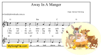 Away In A Manger (German) - G Major