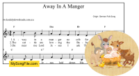 Away In A Manger (German) - F Major