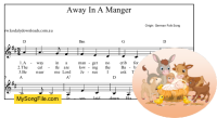 Away In A Manger (German) - D Major