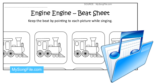 Engine Engine (Beat Sheet Black and White)