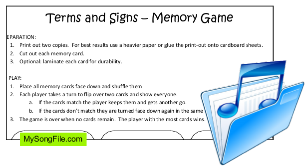 Memory Game (Terms and Signs)