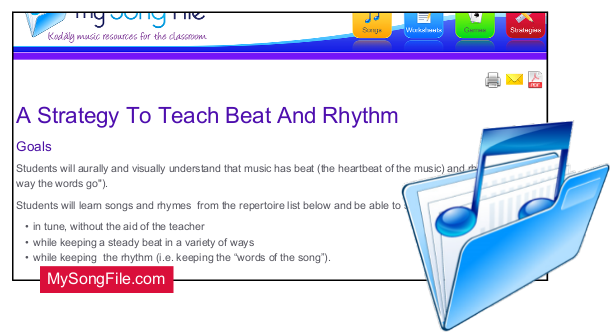 A strategy to teach beat and rhythm
