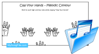 Clap Your Hands (Melodic Contour Chart)