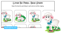 Little Bo Peep (Beat Sheet Colour)