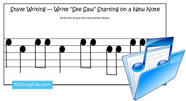 See Saw (Stave Writing-Transposition)