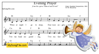 Evening Prayer (do = Bb)