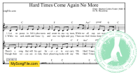 Hard Times Come Again No More (C Major)