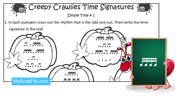 Creepy Crawlies (Simple Time Signature no1)