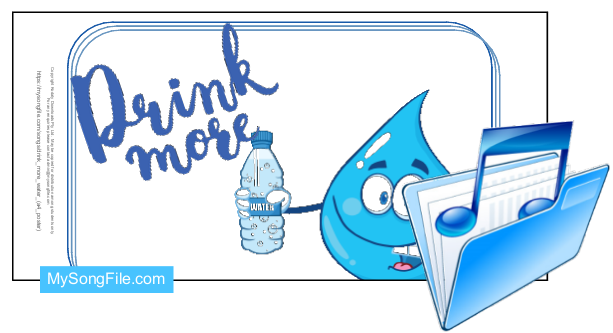 Drink More Water (A4 Poster)
