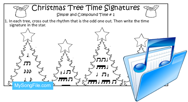 Christmas Tree (Simple and Compound Time Signature no1)