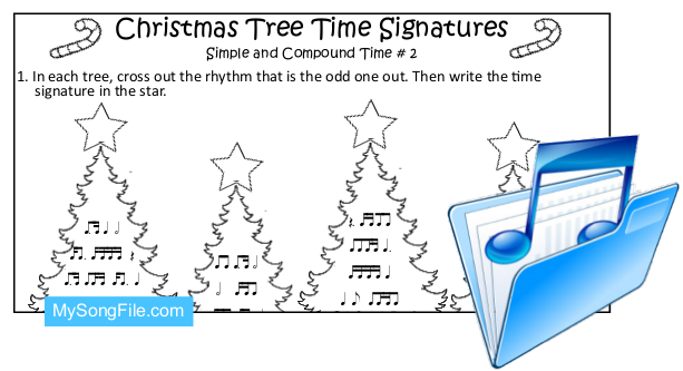 Christmas Tree (Simple and Compound Time Signature no2)