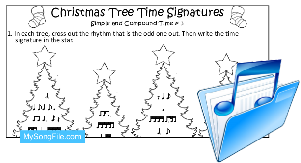 Christmas Tree (Simple and Compound Time Signature no3)