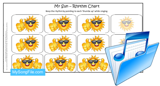 Mr Sun Colour Rhythm Chart