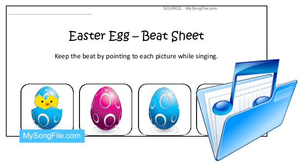 Easter Egg (Beat Sheet Blue and Pink)