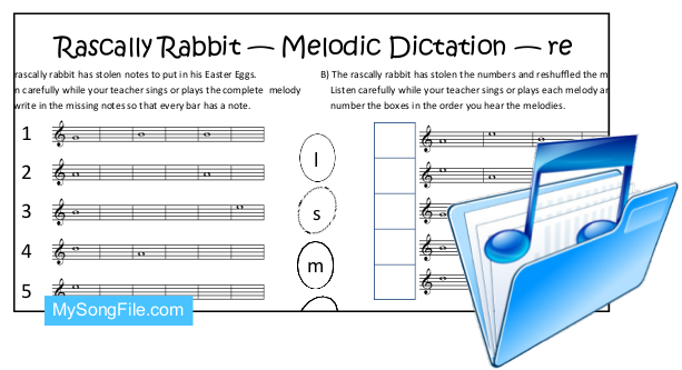 Easter re Staff (Melodic Dictation)