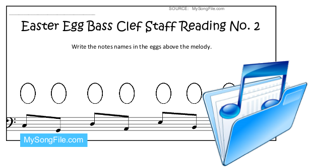 Easter Egg (Staff Reading Bass Clef no.2)