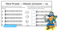 Pesky Pirates fa Staff (Melodic Dictation)