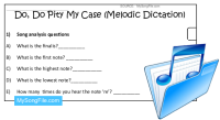 Do Do Pity My Case (Melodic Dictation)