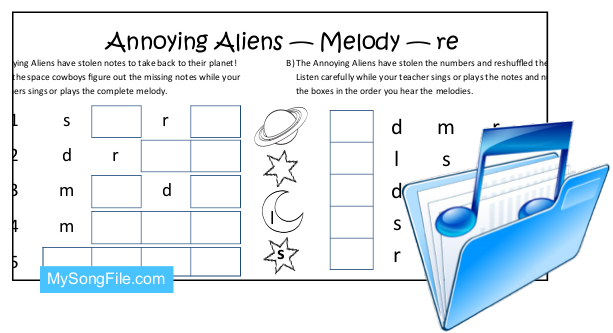 Annoying Aliens re (Melodic Dictation)