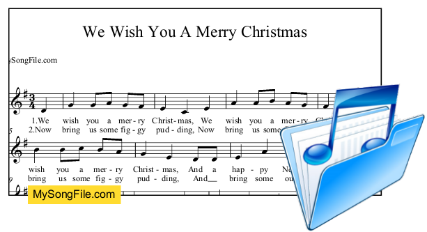 We Wish You A Merry Christmas (G Major)   My Song File